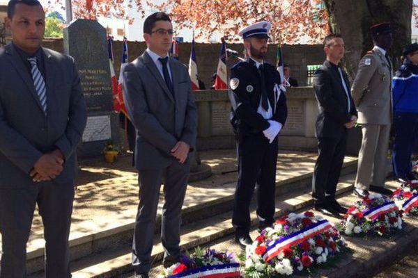 Commémoration à Besançon au cimetière des Chaprais en présence d'une centaine de personne, le 30 avril 2017.