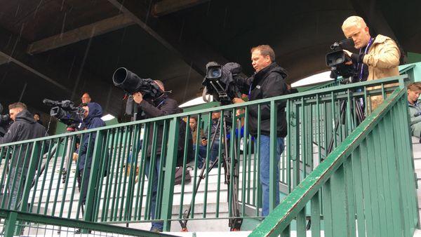 """Les journalistes néerlandais à l'entrainement des """"Oranje"""""""