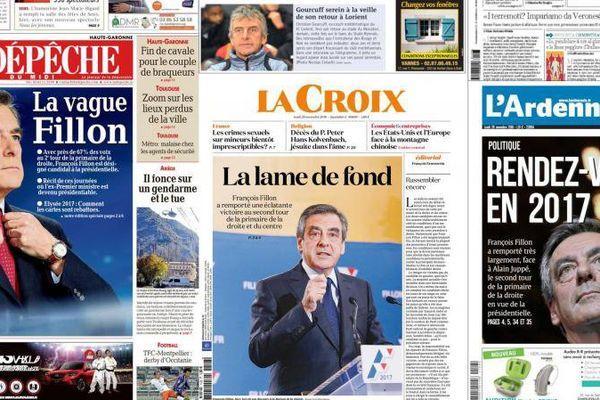Revue de presse au lendemain de la victoire de François Fillon à la Primaire de la droite et du centre