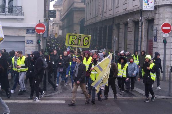 La manifestation des gilets jaunes de Lyon, le samedi 2 mars 2019. Photo d'archive.