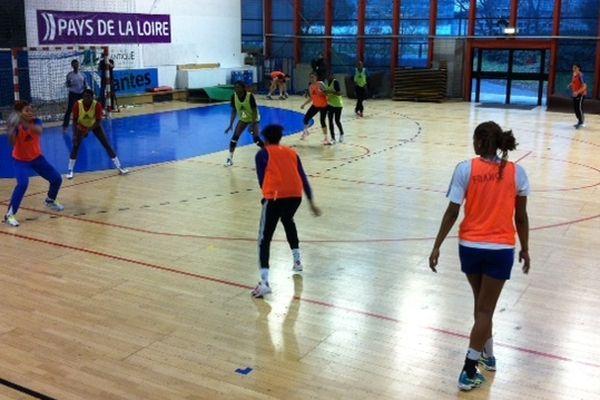Les joueuses de l'équipe de France à L'entrainement