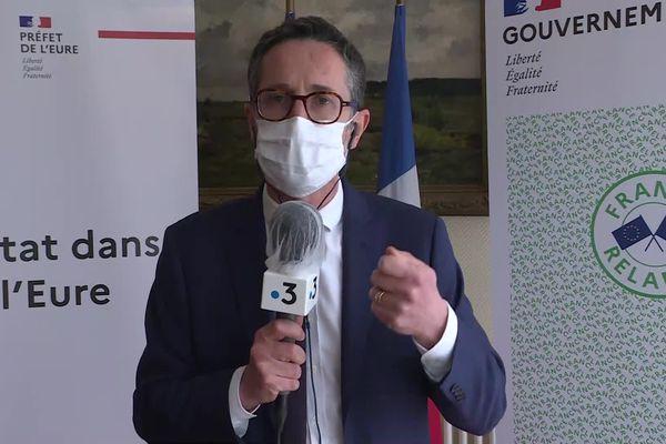 Le préfet de l'Eure, Jérôme Filipini annonce de nouvelles mesures pour freiner la progression du virus dans son département