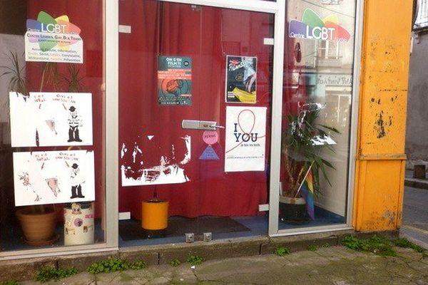 Le centre LGBT Nantes vandalisé à Nantes le 26 mars 2017