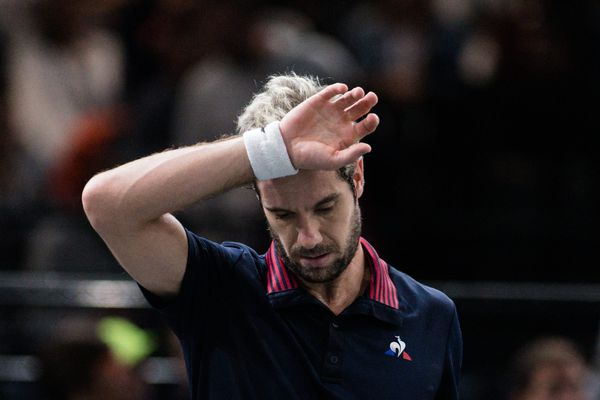Richard Gasquet a dû déclarer forfait pour la finale de Coupe Davis France-Croatie au stade Pierre-Mauroy.