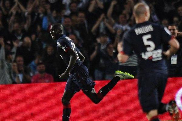 Cédric Yambéré après avoir marqué son 1er but en Ligue 1 face à l'OM