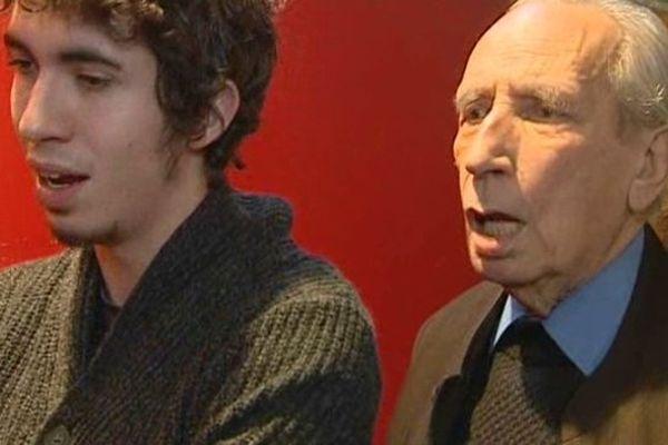 Pierre Debauche (à droite) en 2014