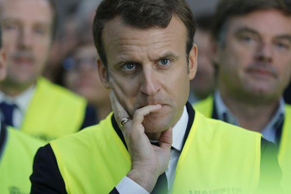Emmanuel Macron en visite à l'usine Whirlpool d'Amiens le 3 octobre 2017