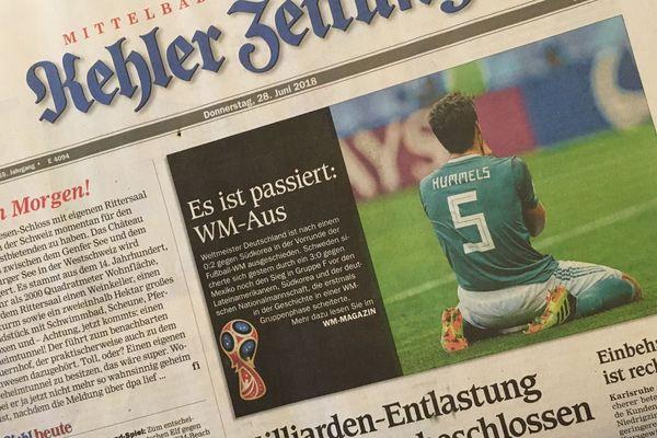 Un exemplaire du Kehler Zeitung daté du jeudi 28 juin.