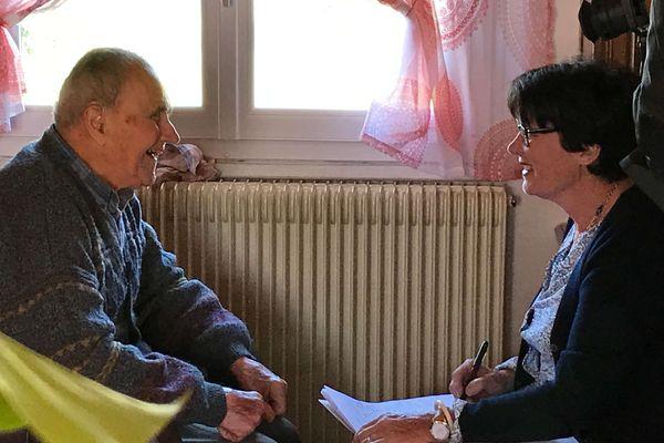 Bel échange entre Florence Jaunez et Jean Boutinaud en pleine séance de travail