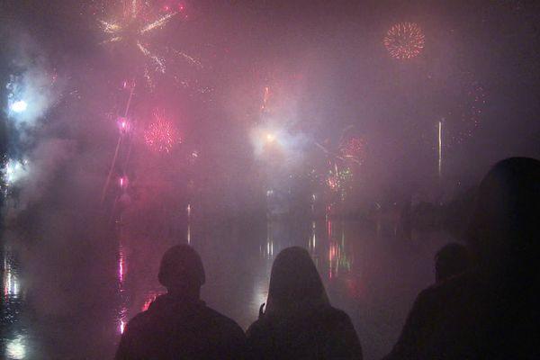 Le feu d'artifice du 14-Juillet à Dijon a été tiré au lac Kir.
