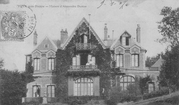 La maison d'Alexandre Dumas fils, à Puys près de Dieppe