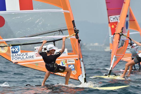 Charline Picon lors du Test Event d'Enoshima au Japon.