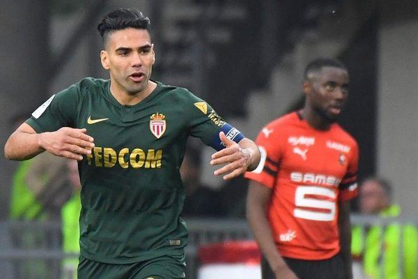 Le Monégasque Falcao a marqué un doublé lors du match Rennes-Monaco du 1er mai 2019