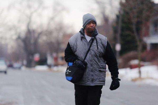 James Robertson, le 29 janvier 2015 à Detroit (Etats-Unis).