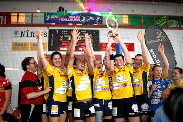 Finale de la Coupe de la Ligue de handball féminin entre Nîmes et Metz 2010