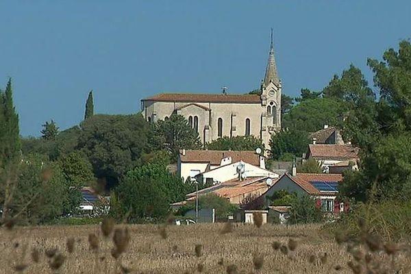Le village de Vérargues dans l'Hérault - octobre 2018.