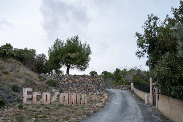 L'entrée du parc animalier Ecozonia à Cases-de-Pêne près de Perpignan dans les Pyrénées-Orientales - 25/01/2021