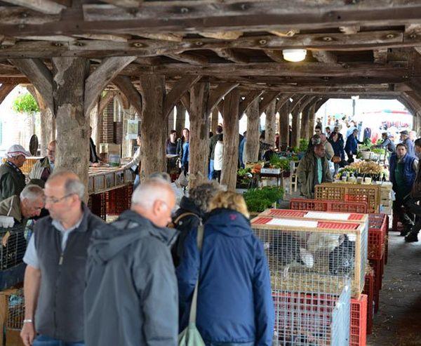 Le marché de Buchy sous la halle du XVIIe siècle