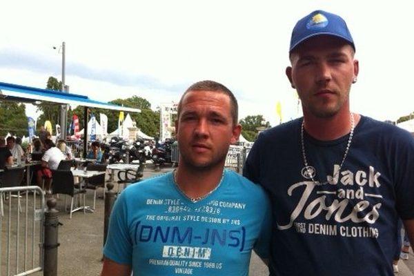 Anthony Laruelle et Guillaume Duez, deux des membres de la triplette qui a été menacée de mort par une équipe de Vitrolles.