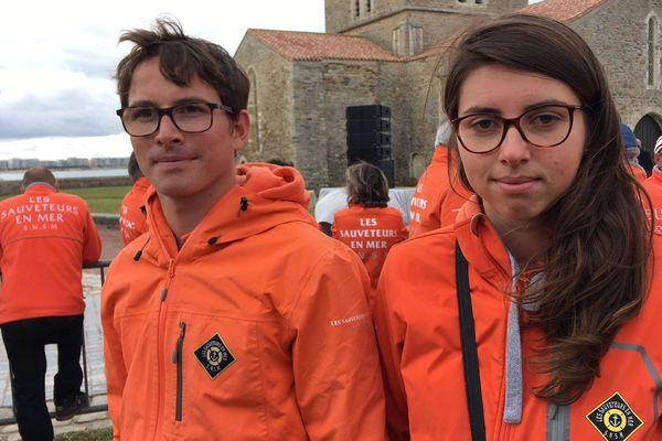 Jérémy et Margot, bénévoles de la SNSM de Lorient