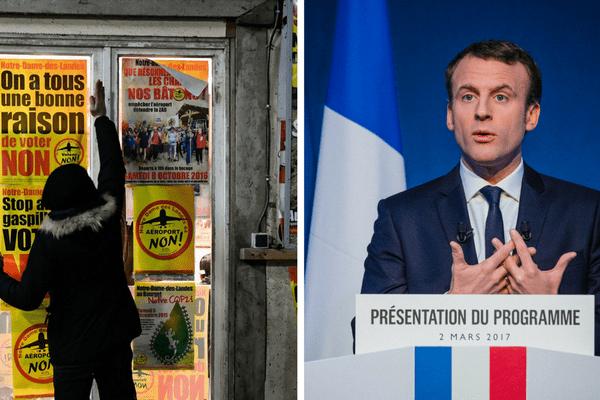 Invité au micro de RTL le 3 mars 2017, Emmanuel a abordé le sort du projet de l'aéroport Notre-Dame-des-Landes s'il était élu.