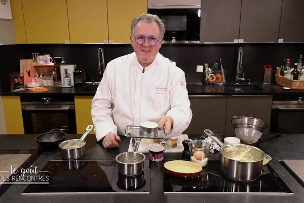 France Oberkampf aura la chance de partager la recette du chef Michel Dussau, spécialiste de la melanosporum (Truffe noire).