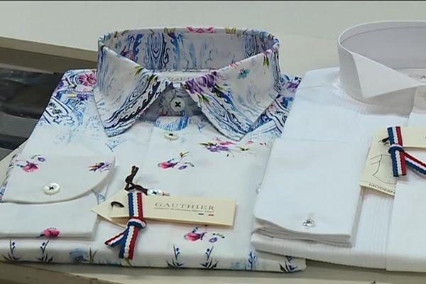 Les chemises fabriquées par les ateliers Gauthier visent le haut de gamme.