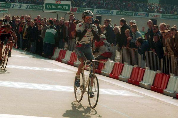 Frédéric Guesdon, dernier Français vainqueur du Paris-Roubaix en 1997.