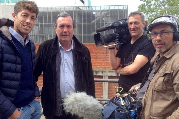 De gauche à droite Manuel Escribano, Zocato, Didier Colin et Philippe Ferrasse. Tout le monde était prêt…