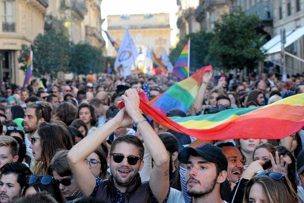 L'année dernière, la marche des fiertés à Montpellier a rassemblé près de 8000 personnes - juillet 2019
