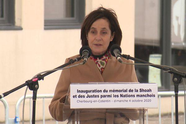 Irit Ben-Abba-Vitale, ambassadrice d'Israël en France, s'est exprimée lors d'un discours durant la cérémonie d'inauguration.