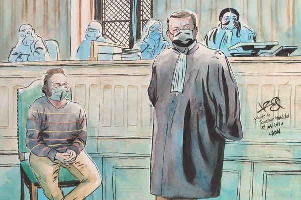 Jonathan Maréchal et son avocat Me Bouchaillou.