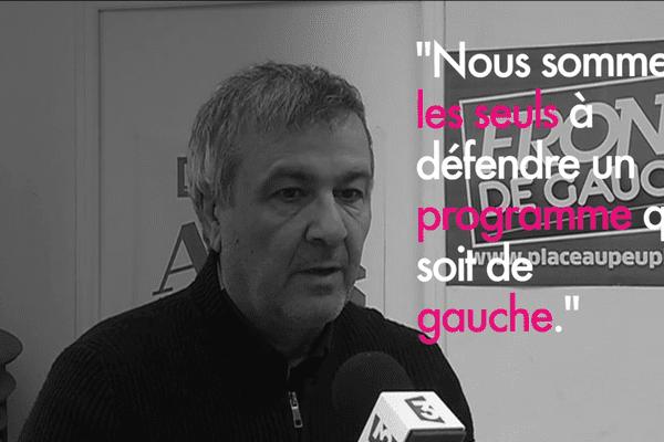 Michel Stefani, secrétaire de la fédération du parti communiste de Haute-Corse.