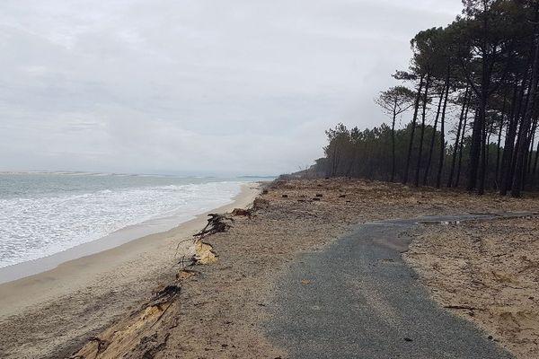 La plage de la Lagune, le 16 mars 2020