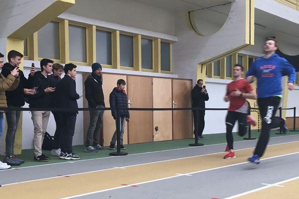 Christophe Lemaitre et Valentin Lavillenie à l'entraînement.