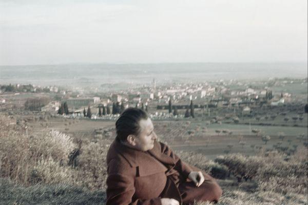 Gisèle Freund, Jean Giono à Manosque, 1937.