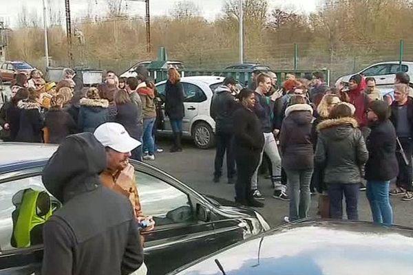 Jaunay-Marigny (Vienne) - les salariés de Comdata Group en grève - 13 mars 2019.