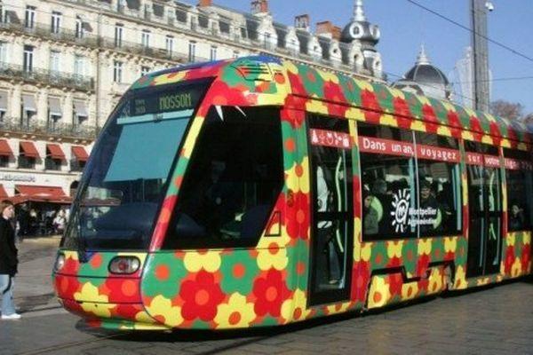 Le tramway de Montpellier, l'un des plus colorés