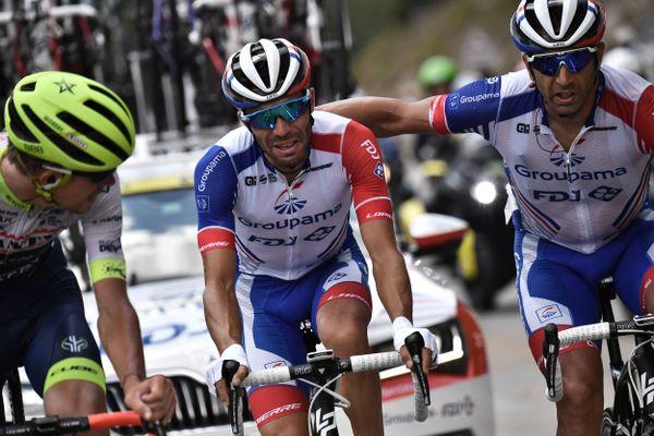 Thibaut Pinot contraint à l'abandon du Tour de France 2019.