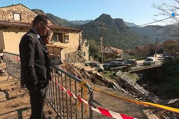 Trois semaines après le passage de la tempête Fabien, Gilles Simeoni, président du conseil exécutif de Corse est venu prendre le pouls sur le terrain.