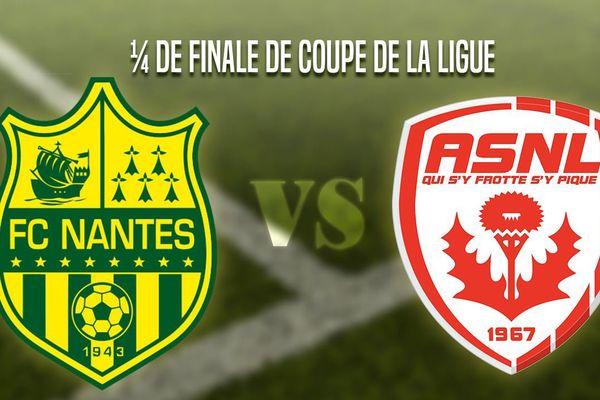 Coupe de la Ligue Nantes-Nancy.