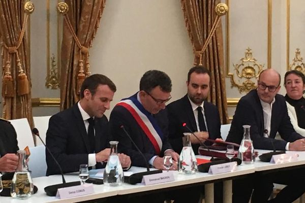 Emmanuel Macron au conseil municipal d'Epernay ce jeudi 14 novembre