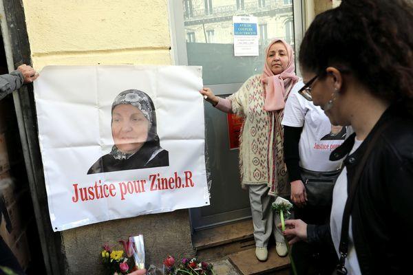 Hommage à Zineb Redouane, décédée en décembre 2018 à Marseille, en marge d'une manifestation (archives)