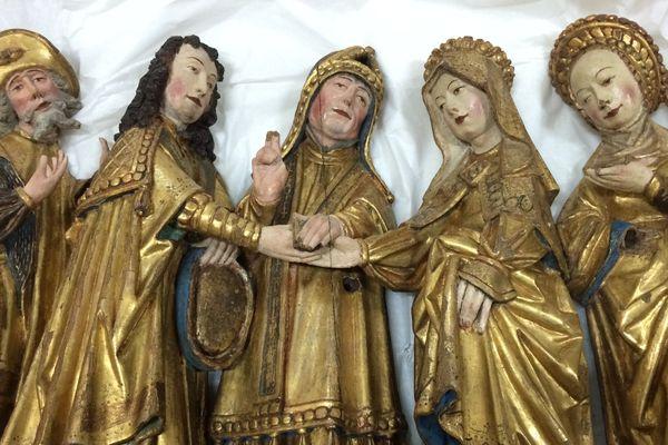Une polychromie restaurée du retable de la cathédrale Saint-Pierre de Rennes