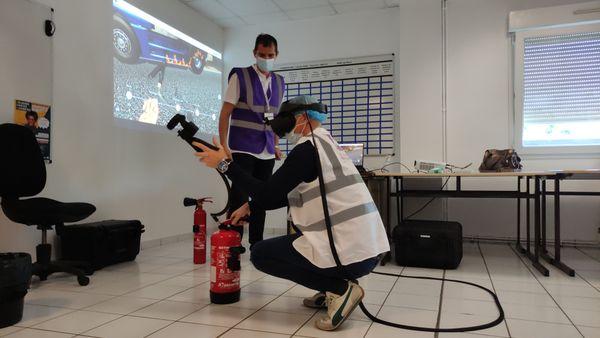 Utilisation de la réalité virtuelle pour les ateliers sécurité incendie