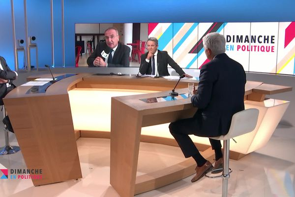 Franck Besnier reçoit Philippe Legueltel, Joel Bruneau, Marc Antoine Jamet et Claude Marand Gombar dans Dimanche en Politique