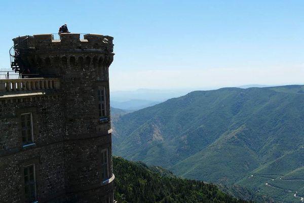 Le Mont Aigoual, 1567m d'altitude, terme de la 6ème étape du Tour de France, jeudi 3 septembre 2020