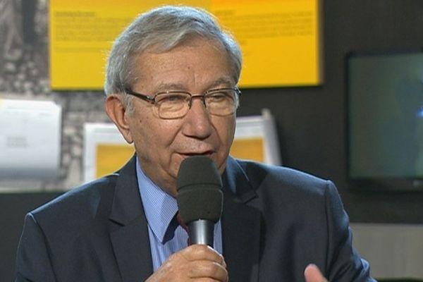 Bernard Cazeau à Cap Sciences lors de l'enregistrement émission spéciale Lascaux III -  le 11octobre 2012