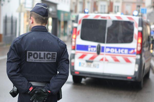 Un policier à Mulhouse, en janvier 2020.