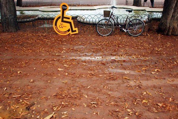 Le fauteuil de Chris a été volé le 27 août.